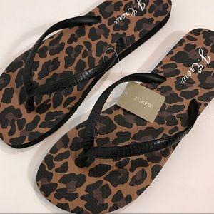 J Crew Leopard Flip Flop Sandal NWTNWT, used for sale